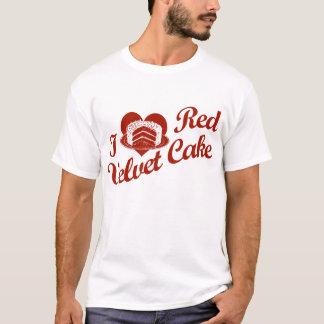 Amo la torta roja del terciopelo playera