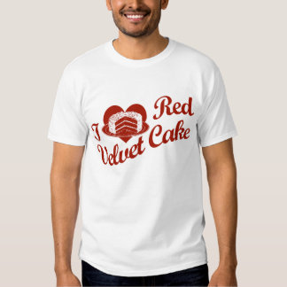 Amo la torta roja del terciopelo playeras