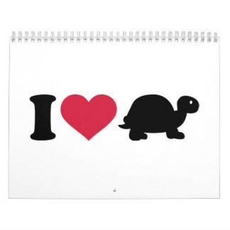 Amo la tortuga calendario