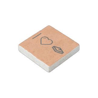 Amo la tostada francesa imán de piedra