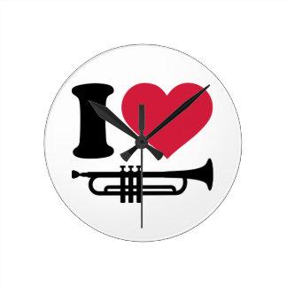 Amo la trompeta relojes
