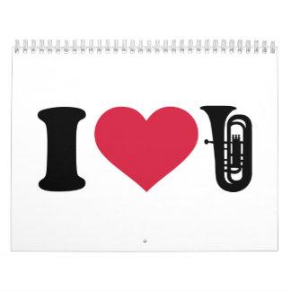 Amo la tuba calendario