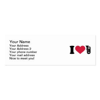 Amo la tuba plantilla de tarjeta personal