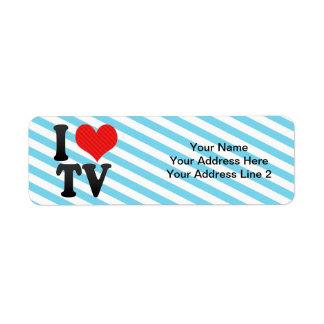 Amo la TV Etiquetas De Remite
