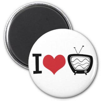 Amo la TV Imán Redondo 5 Cm