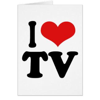 Amo la TV Tarjeta De Felicitación