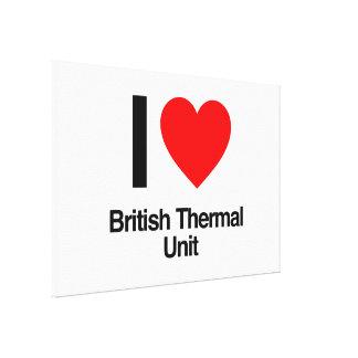 amo la unidad termal británica impresión en lona