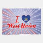 Amo la unión del oeste, Nueva York Toalla