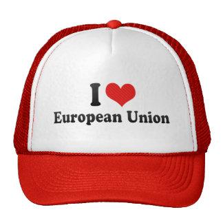 Amo la unión europea gorro
