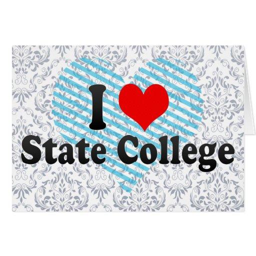 Amo la universidad de estado, Estados Unidos Tarjeta De Felicitación