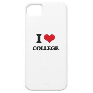 Amo la universidad iPhone 5 cárcasa