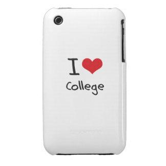 Amo la universidad iPhone 3 protector