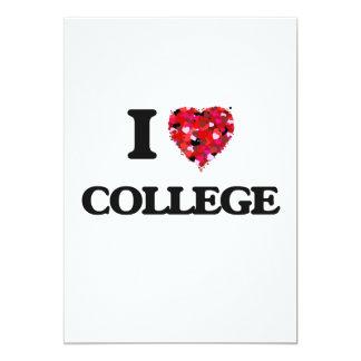 """Amo la universidad invitación 5"""" x 7"""""""