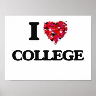 Amo la universidad póster