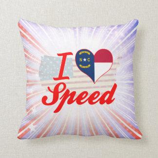 Amo la velocidad, Carolina del Norte Cojin