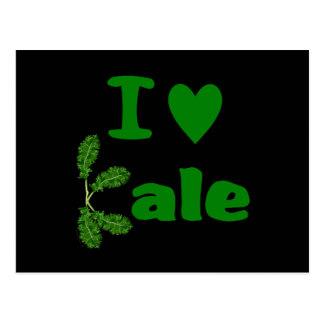 Amo la verdura/al jardinero de la col rizada (col  tarjetas postales
