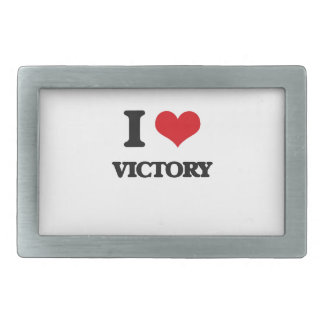 Amo la victoria hebilla de cinturon rectangular