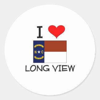 Amo la visión a largo plazo Carolina del Norte Etiqueta Redonda