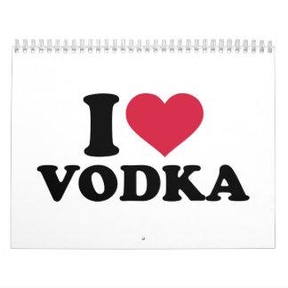 Amo la vodka calendarios