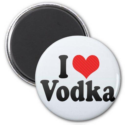 Amo la vodka iman de nevera