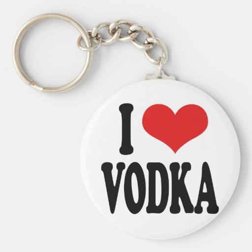 Amo la vodka llavero redondo tipo pin