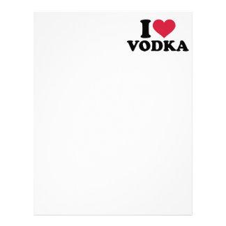 Amo la vodka membrete personalizado