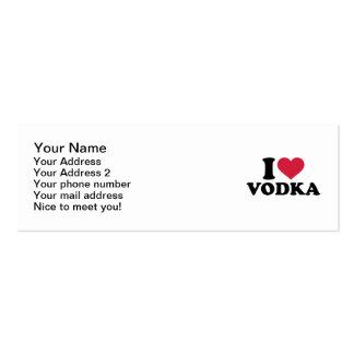 Amo la vodka tarjeta de negocio