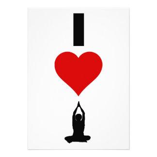 Amo la yoga vertical invitacion personal
