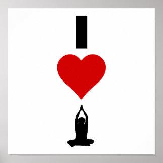 Amo la yoga (vertical) impresiones