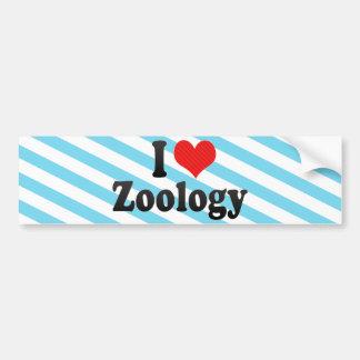 Amo la zoología etiqueta de parachoque