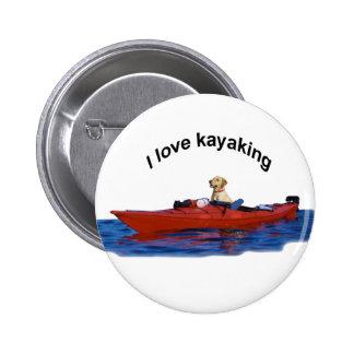 Amo (laboratorio amarillo) 2 kayaking pin