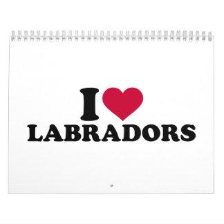 Amo Labradors Calendarios De Pared