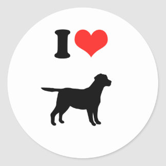 Amo Labradors Pegatina