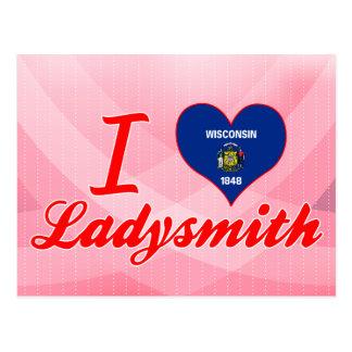Amo Ladysmith, Wisconsin Tarjeta Postal
