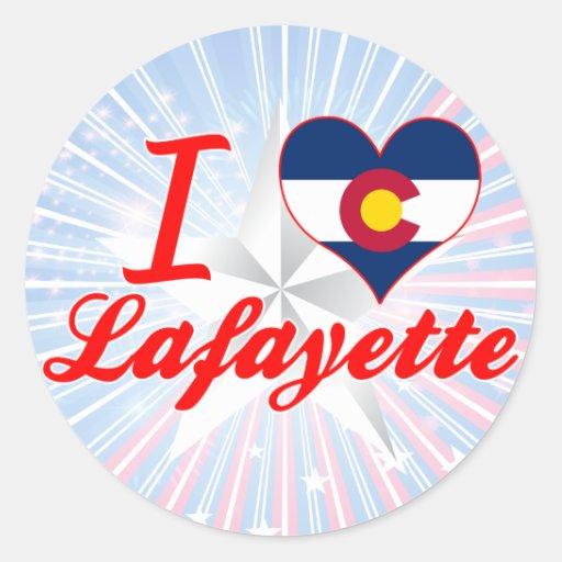 Amo Lafayette, Colorado Pegatinas Redondas