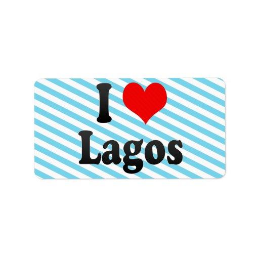 Amo Lagos, Nigeria Etiquetas De Dirección