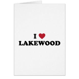 Amo Lakewood Colorado Tarjeta De Felicitación