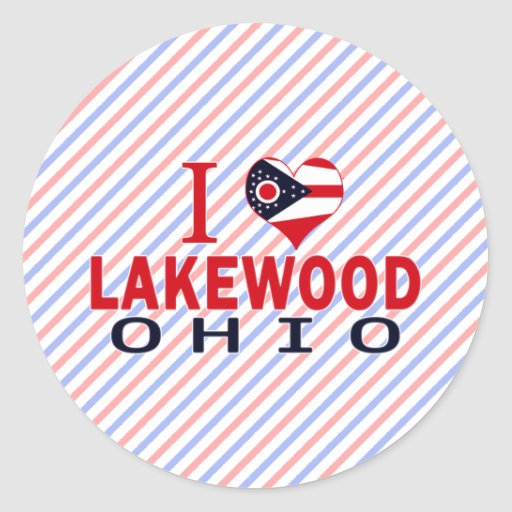 Amo Lakewood, Ohio Pegatina Redonda