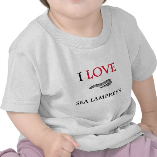 Amo lampreas de mar camiseta