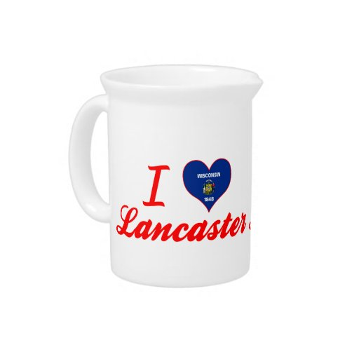 Amo Lancaster, Wisconsin Jarra Para Bebida