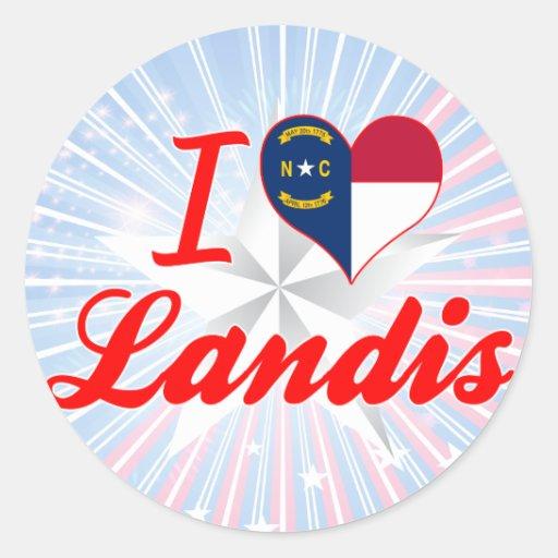 Amo Landis, Carolina del Norte Etiqueta Redonda