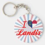 Amo Landis, Carolina del Norte Llavero Personalizado