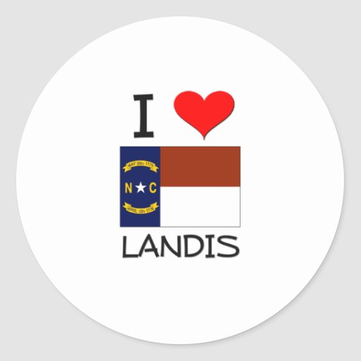 Amo Landis Carolina del Norte Pegatinas Redondas