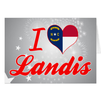 Amo Landis, Carolina del Norte Tarjetón