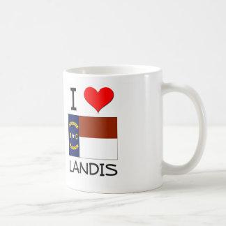 Amo Landis Carolina del Norte Taza Básica Blanca