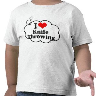 Amo lanzar del cuchillo camiseta