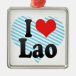 Amo Lao Adorno Cuadrado Plateado