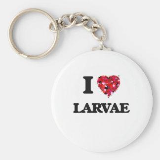 Amo larvas llavero redondo tipo pin