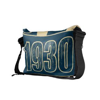Amo las 1930 - vintage azul marino - bolsas de men bolsas de mensajería