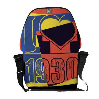Amo las 1930 - vintage del arte pop - bolsas de me bolsas de mensajería